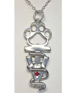 Vet Tech Pendant w/Tiny Birthstone