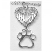 Winged Pendant w/Puppy Paw®