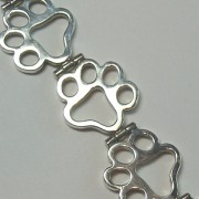 Sterling Silver Classic Puppy Paws® Bracelet