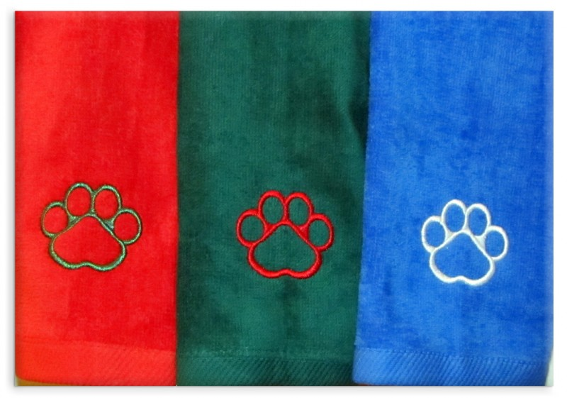 About My Puppy Paws® Holiday Hand Towels