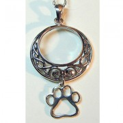 SS Celtic Knot Design w/Hanging Puppy Paw®
