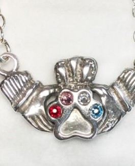 SS Claddagh Pendant w/Puppy Paw® (Small)