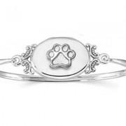 SS Locket Bracelet w/Puppy Paw®