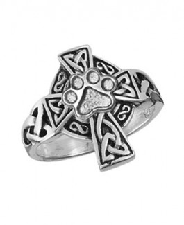 Sterling Celtic Cross Ring from Puppy Paws®