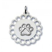 Circular Floral Pendant w/Puppy Paw®