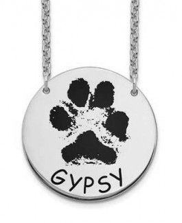 Paw or Nose Print Pendants