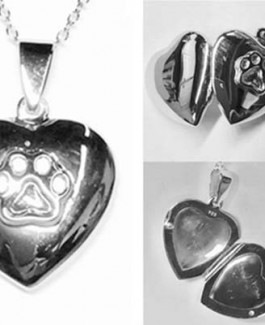 Heart Locket w/Puppy Paw®