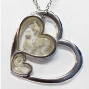 Memory Triple Heart Pendant & Cremains