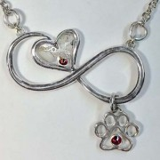 Infinity Memory Pendant with Cremains