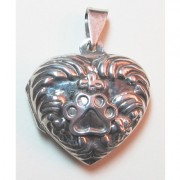 SS Floral Memory Locket w/Puppy Paw®