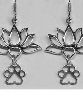 Lotus Flower Earrings w/Puppy Paw®