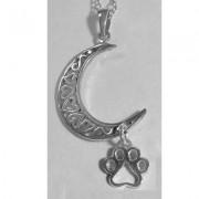 Moon Pendant w/Puppy Paw®