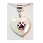 Mother of Pearl Pendant w/Puppy Paw®