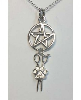 Sterling Pentacle w/Puppy Paw® Pendant