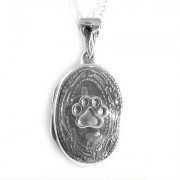 SS Oval Locket w/Puppy Paw®