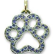 Pavé Blue Sapphire Puppy Paws® Pendant