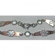 SS Puppy Paw® Bracelet w/Copper Links