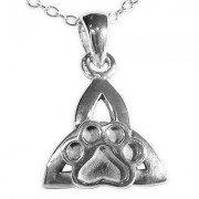 Celtic Triangular Knot Pendant w/Puppy Paw®