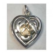 SS Celtic Heart Locket w/Puppy Paw®