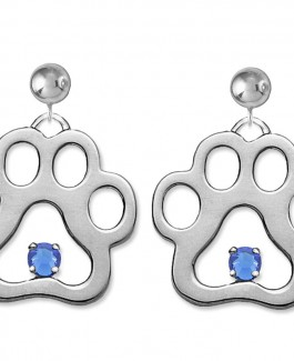 September Charm Size Puppy Paws® Earrings w/Swarovski® Crystals