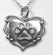 Scroll Heart w/Puppy Paw® Pendant