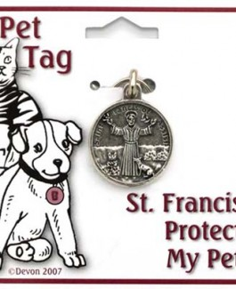 St Francis Protect My Pet Tag