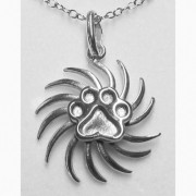 Sunburst Pendant w/Puppy Paw® Pendant