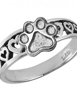 Heart Ring with Puppy Paws®