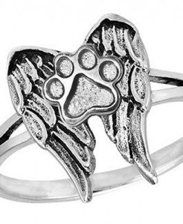 Sterling Memory Wing Ring from Puppy Paws®